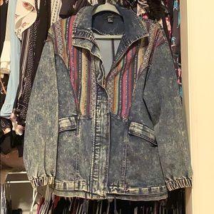 Pattern Jean Jacket